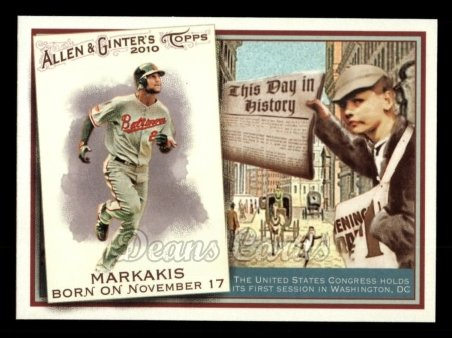 2010 Topps Allen & Ginter This Day In History #53 TDH  -  Nick Markakis This Day in History