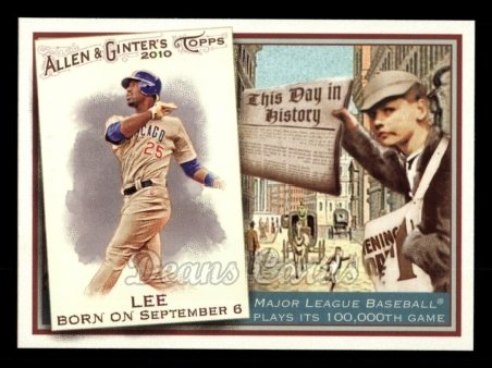 2010 Topps Allen & Ginter This Day In History #54 TDH  -  Derrek Lee This Day in History