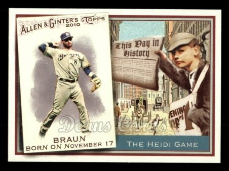 2010 Topps Allen & Ginter This Day In History #55 TDH  -  Ryan Braun This Day in History
