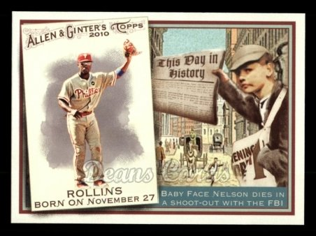 2010 Topps Allen & Ginter This Day In History #56 TDH  -  Jimmy Rollins This Day in History
