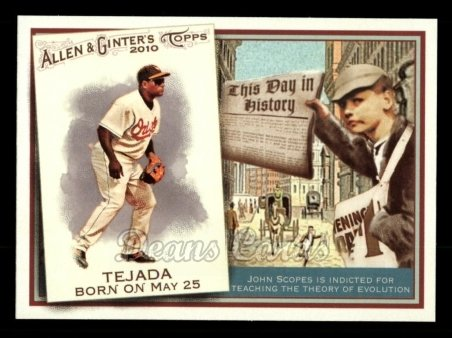 2010 Topps Allen & Ginter This Day In History #57 TDH  -  Miguel Tejada This Day in History