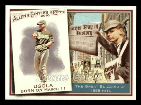 2010 Topps Allen & Ginter This Day In History #58 TDH  -  Dan Uggla This Day in History