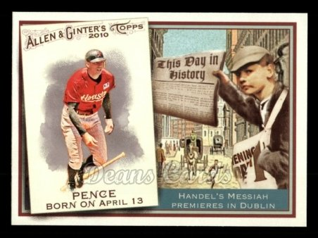 2010 Topps Allen & Ginter This Day In History #59 TDH  -  Hunter Pence This Day in History