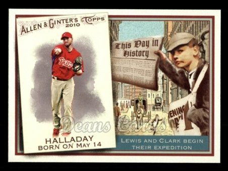 2010 Topps Allen & Ginter This Day In History #60 TDH  -  Roy Halladay This Day in History