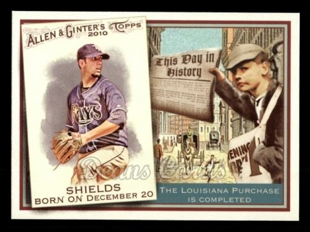 2010 Topps Allen & Ginter This Day In History #61 TDH  -  James Shields This Day in History