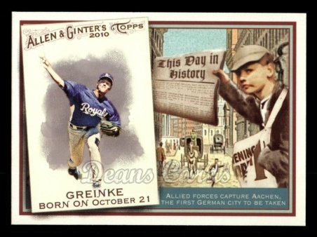 2010 Topps Allen & Ginter This Day In History #65 TDH  -  Zack Greinke This Day in History