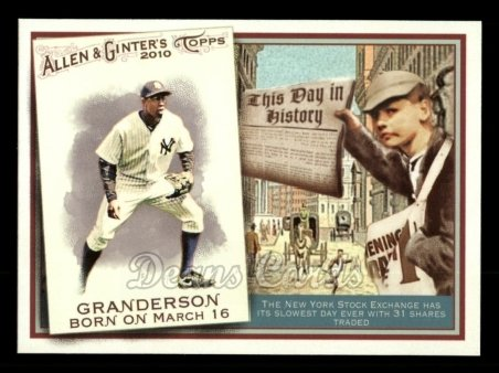 2010 Topps Allen & Ginter This Day In History #66 TDH  -  Curtis Granderson This Day in History