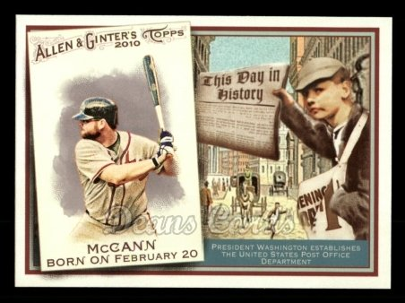 2010 Topps Allen & Ginter This Day In History #68 TDH  -  Brian McCann This Day in History