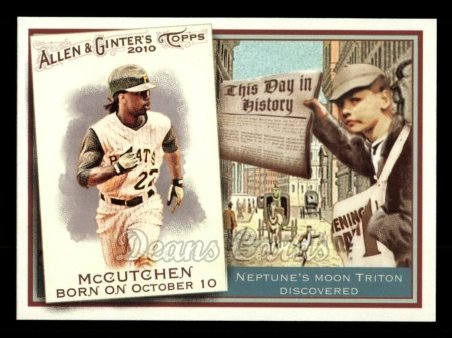 2010 Topps Allen & Ginter This Day In History #70 TDH  -  Andrew McCutchen This Day in History