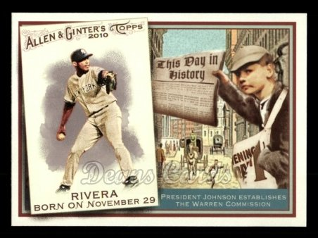 2010 Topps Allen & Ginter This Day In History #75 TDH  -  Mariano Rivera This Day in History