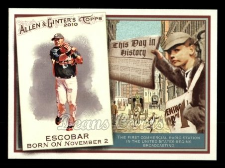 2010 Topps Allen & Ginter This Day In History #8 TDH  -  Yunel Escobar This Day in History