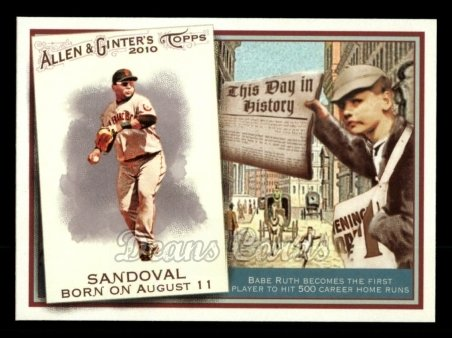 2010 Topps Allen & Ginter This Day In History #9 TDH  -  Pablo Sandoval This Day in History
