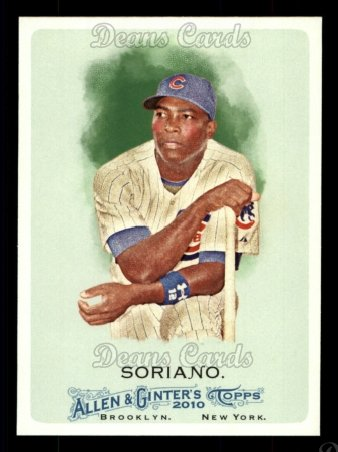2010 Topps Allen & Ginter #249  Alfonso Soriano