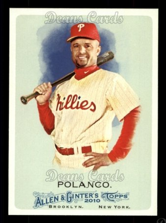 2010 Topps Allen & Ginter #310  Placido Polanco