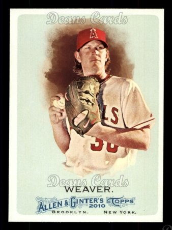 2010 Topps Allen & Ginter #328  Jered Weaver