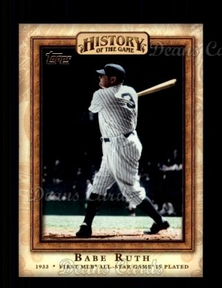 2010 Topps History of the Game #11 HOTG  History of the Game - First MLB All-Star Game is Played