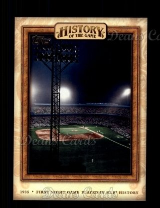2010 Topps History of the Game #12 HOTG  History of the Game - First Night Game Played in MLB History