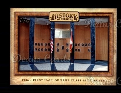 2010 Topps History of the Game #14 HOTG  History of the Game - First Hall of Fame Class is Inducted