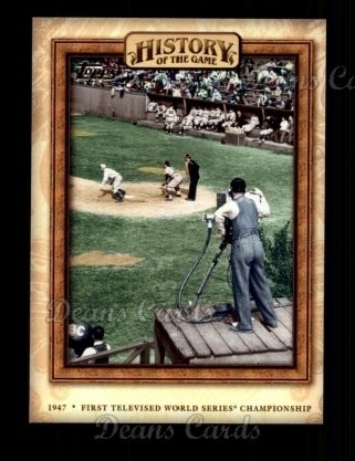 2010 Topps History of the Game #16 HOTG  History of the Game - First Televised Baseball Game