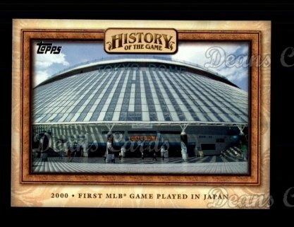 2010 Topps History of the Game #25 HOTG  History of the Game - 1st MLB game played in Japan