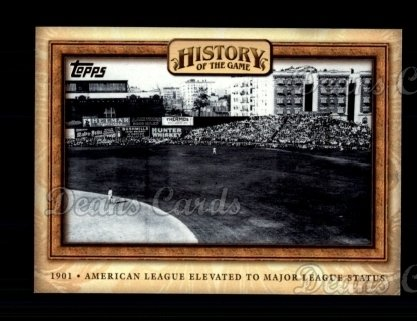 2010 Topps History of the Game #4 HOTG  History of the Game - American League Elevated to Major League Status