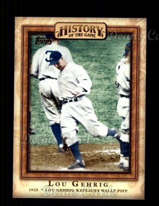2010 Topps History of the Game #9 HIS  History of the Game - Lou Gehrig Replaces Wally Pipp
