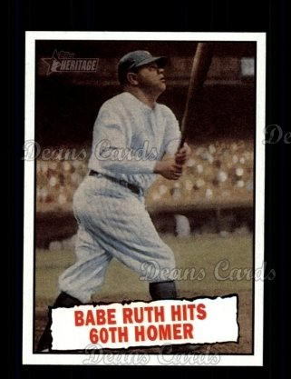 2010 Topps Heritage #401   -  Babe Ruth Babe Ruth Hits 60th Homer