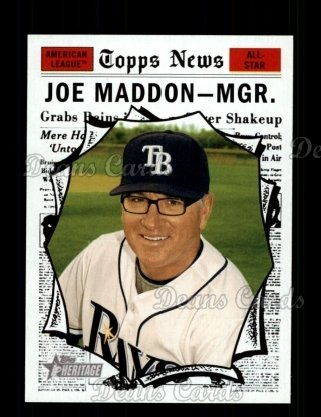 2010 Topps Heritage #461   -  Joe Maddon All-Star