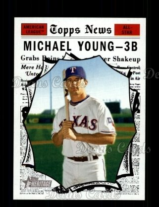 2010 Topps Heritage #467   -  Michael Young All-Star