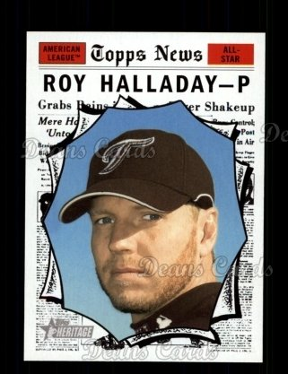 2010 Topps Heritage #495   -  Roy Halladay All-Star