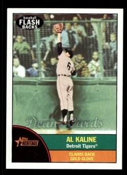 2010 Topps Heritage Baseball Flashbacks #9 BF  -  Al Kaline Baseball Flashbacks