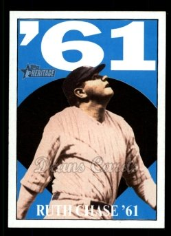 2010 Topps Heritage Ruth Chase 61 #1 BR Babe Ruth