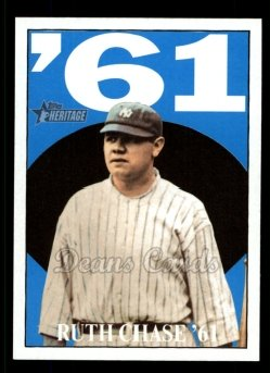 2010 Topps Heritage Ruth Chase 70 #10 BR Babe Ruth