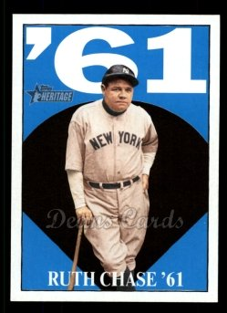 2010 Topps Heritage Ruth Chase 66 #6 BR Babe Ruth