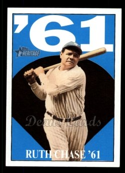2010 Topps Heritage Ruth Chase 68 #8 BR Babe Ruth