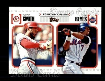 2010 Topps Legendary Lineage #12  Ozzie Smith / Jose Reyes