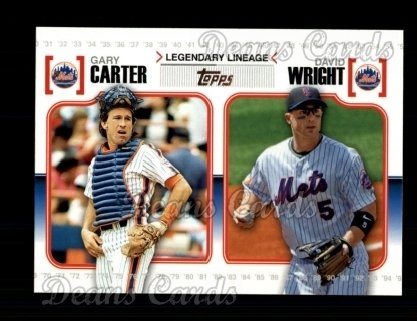 2010 Topps Legendary Lineage #18  Gary Carter / David Wright