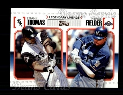 2010 Topps Legendary Lineage #20  Frank Thomas / Prince Fielder