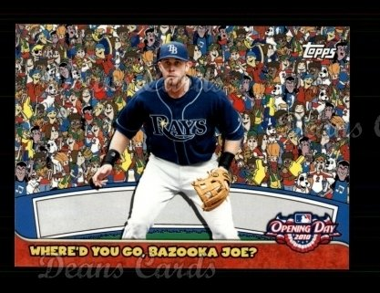 2010 Topps Opening Day Bazooka Joe #7 WBJ  -  Evan Longoria Where'd You go, Bazooka Joe