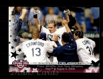 2010 Topps Opening Day Superstar Celebration #9 SC  -  Evan Longoria Superstar Celebrations