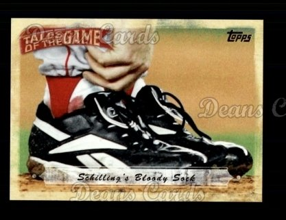 # TOG21 Schilling's Bloody Sock - 2010 Topps Tales of the Game