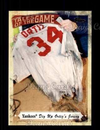 # TOG25 Yankees Dig Up Ortiz' Jersey - 2010 Topps Tales of the Game