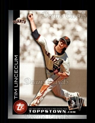 2010 Topps Ticket to Topps Town #10 TTT  -  Tim Lincecum Ticket to Topps Town