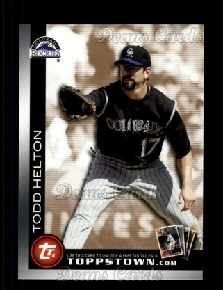 2010 Topps Ticket to Topps Town #17 TTT  -  Todd Helton Ticket to Topps Town