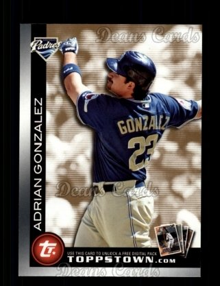 2010 Topps Ticket to Topps Town #4 TTT  -  Adrian Gonzalez Ticket to Topps Town