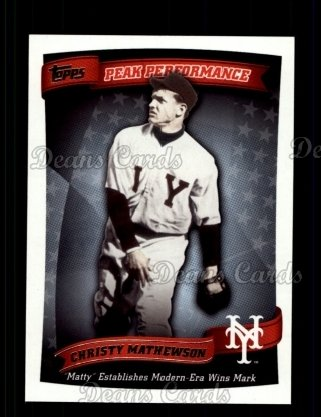 2010 Topps Peak Performance #10 PP  -  Christy Mathewson Peak Performance