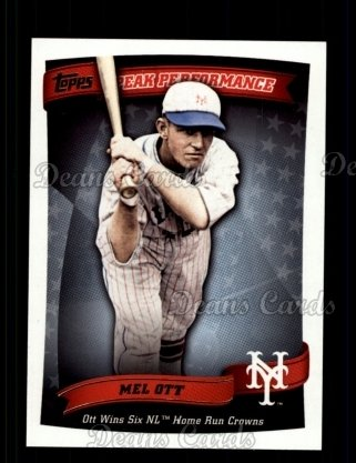 2010 Topps Peak Performance #11 PP  -  Mel Ott Peak Performance