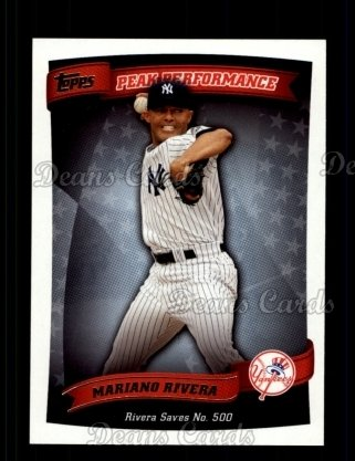 2010 Topps Peak Performance #13 PP  -  Mariano Rivera Peak Performance