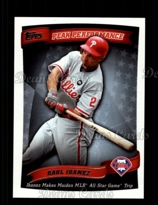 2010 Topps Peak Performance #14 PP  -  Raul Ibanez Peak Performance