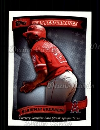 2010 Topps Peak Performance #16 PP  -  Vladimir Guerrero Peak Performance